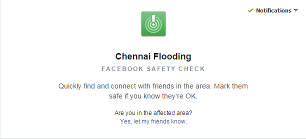Facebook Safety Check Chennai