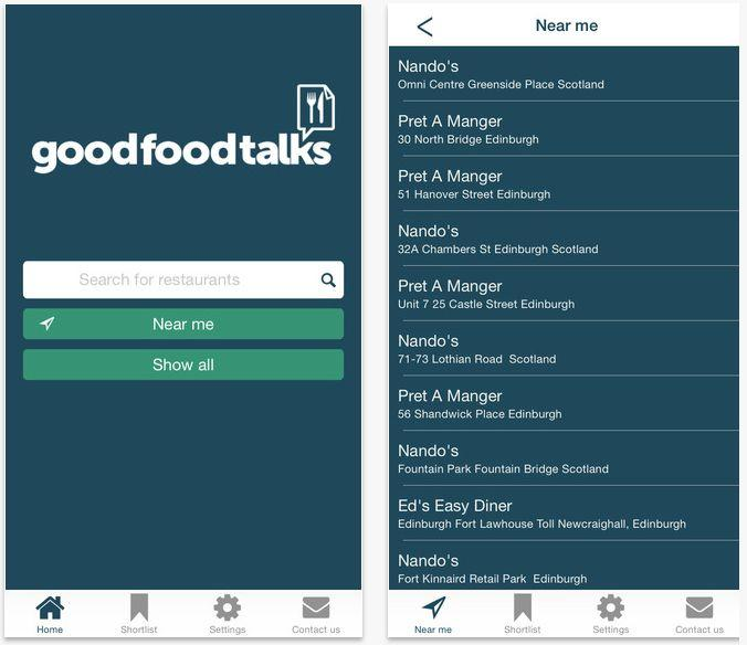 Good Food Talks App