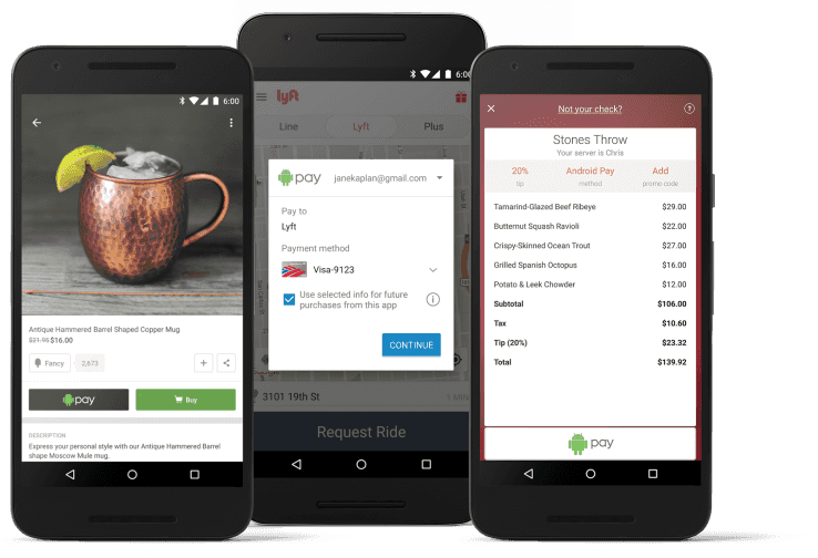 Android Pay mobile apps