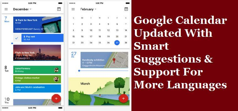 Google Calendar Updated