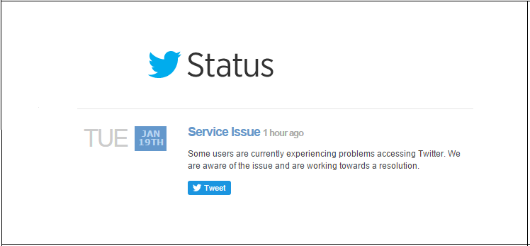 Twitter goes Down