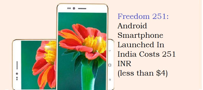 Freedom 251 Android smartphone India