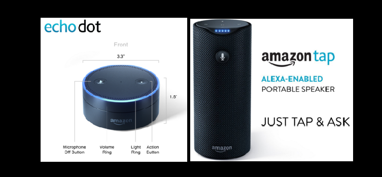 Amazon echo dot and tap