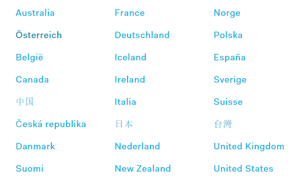 HTC VIve Preorder Countries