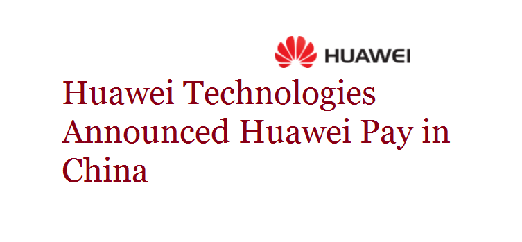 Huawei Pay in China