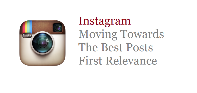 Instagram posts relevance