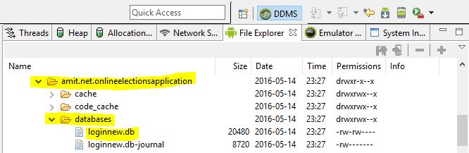 Locating Database