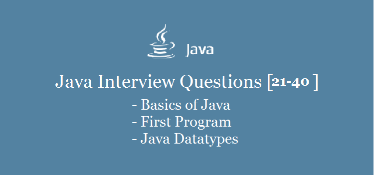 Java-Datatype-Interview-Questions