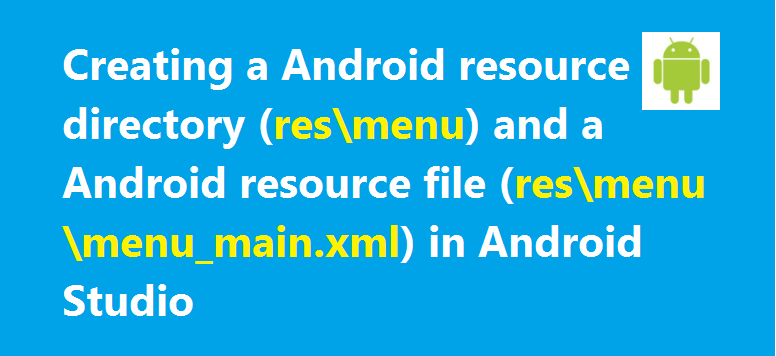 - menu resource directory