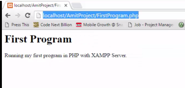 Xampp Server - Check the output of your PHP program